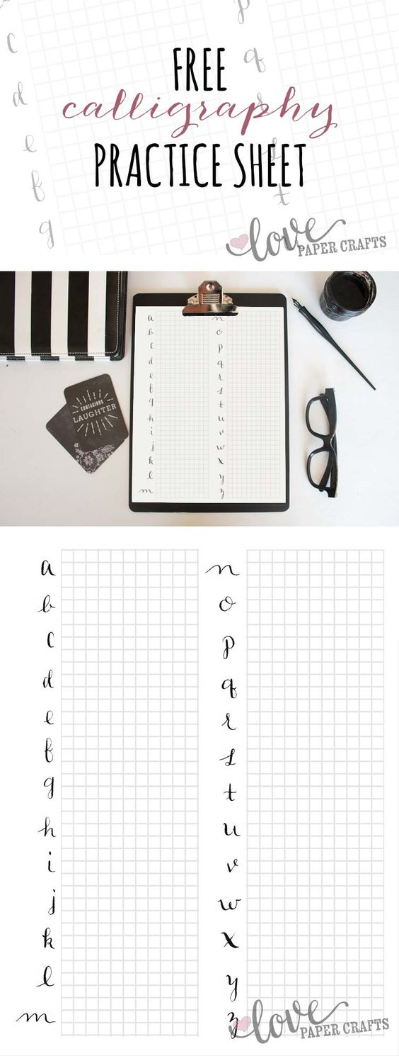 How To Perfect Your Skills With Calligraphy Practice Sheets - Heart - Modern Calligraphy Practice Sheets Printable Free