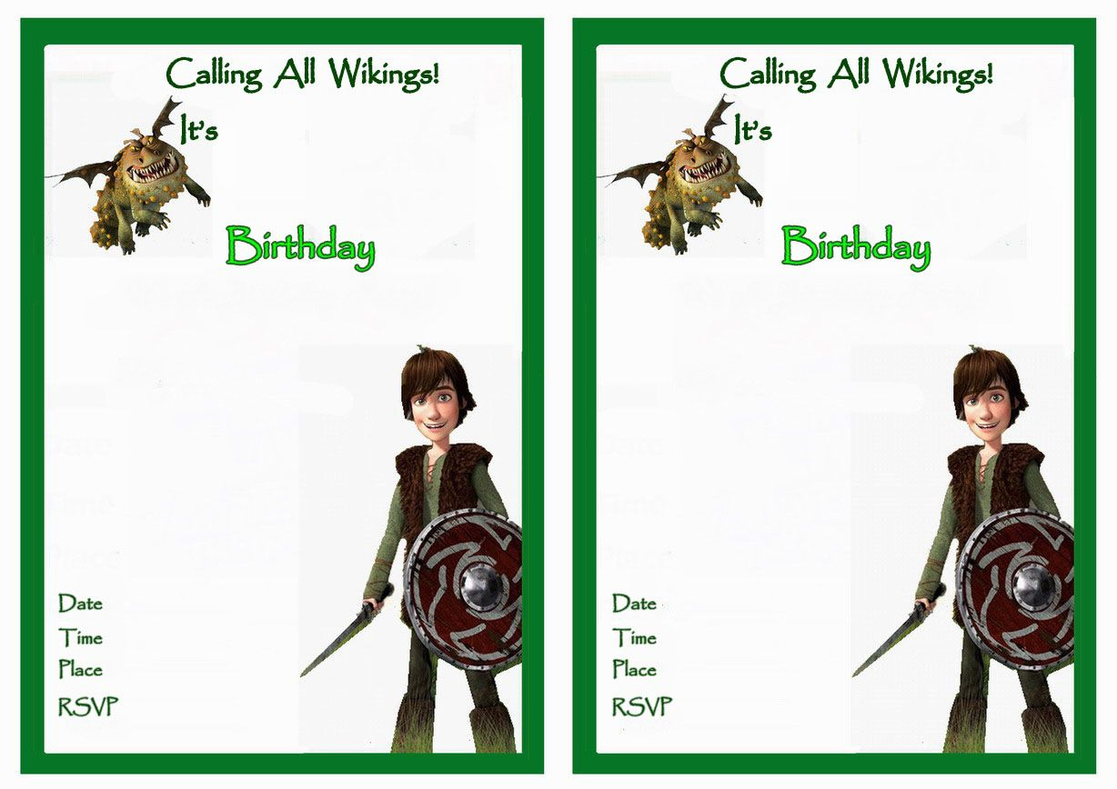 How To Train Your Dragon Birthday Invitations – Birthday Printable - How To Train Your Dragon Birthday Invitations Printable Free