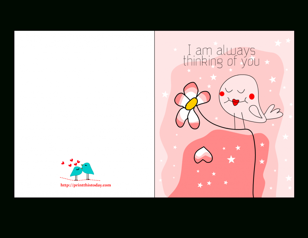 I Am Always Thinking Of You Card,free Printable Love Card For Him - Free Printable Thinking Of You Cards