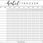 I Was Recently Helping My Boyfriend, Justin, Get His Bu … | Bujo   Habit Tracker Free Printable