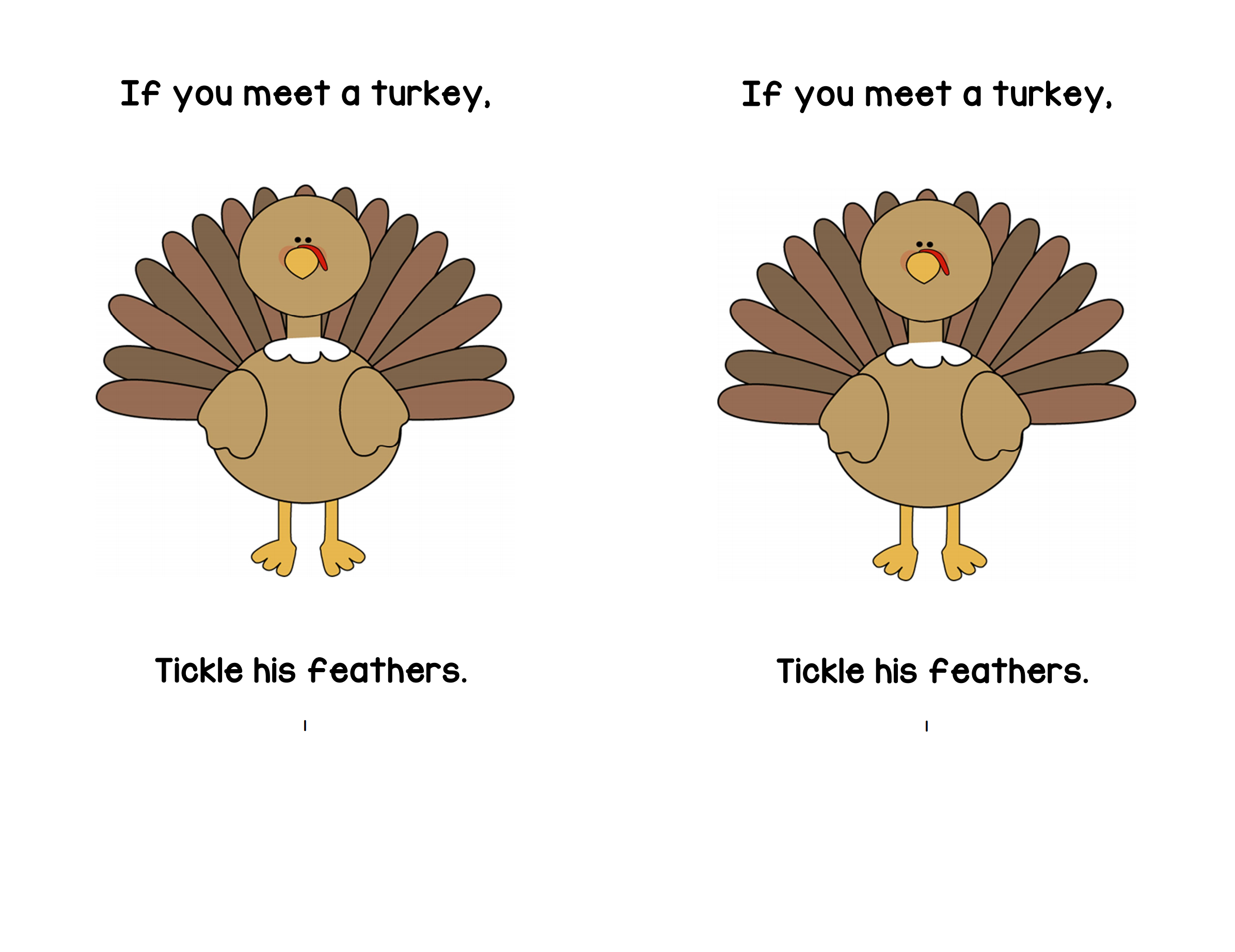 If You Meet A Turkey Printable Book | A To Z Teacher Stuff Printable - Thanksgiving Printable Books Free