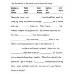 Image Result For Free Cloze Reading Passages 2Nd Grade | Printables   Free Printable Short Stories For 2Nd Graders