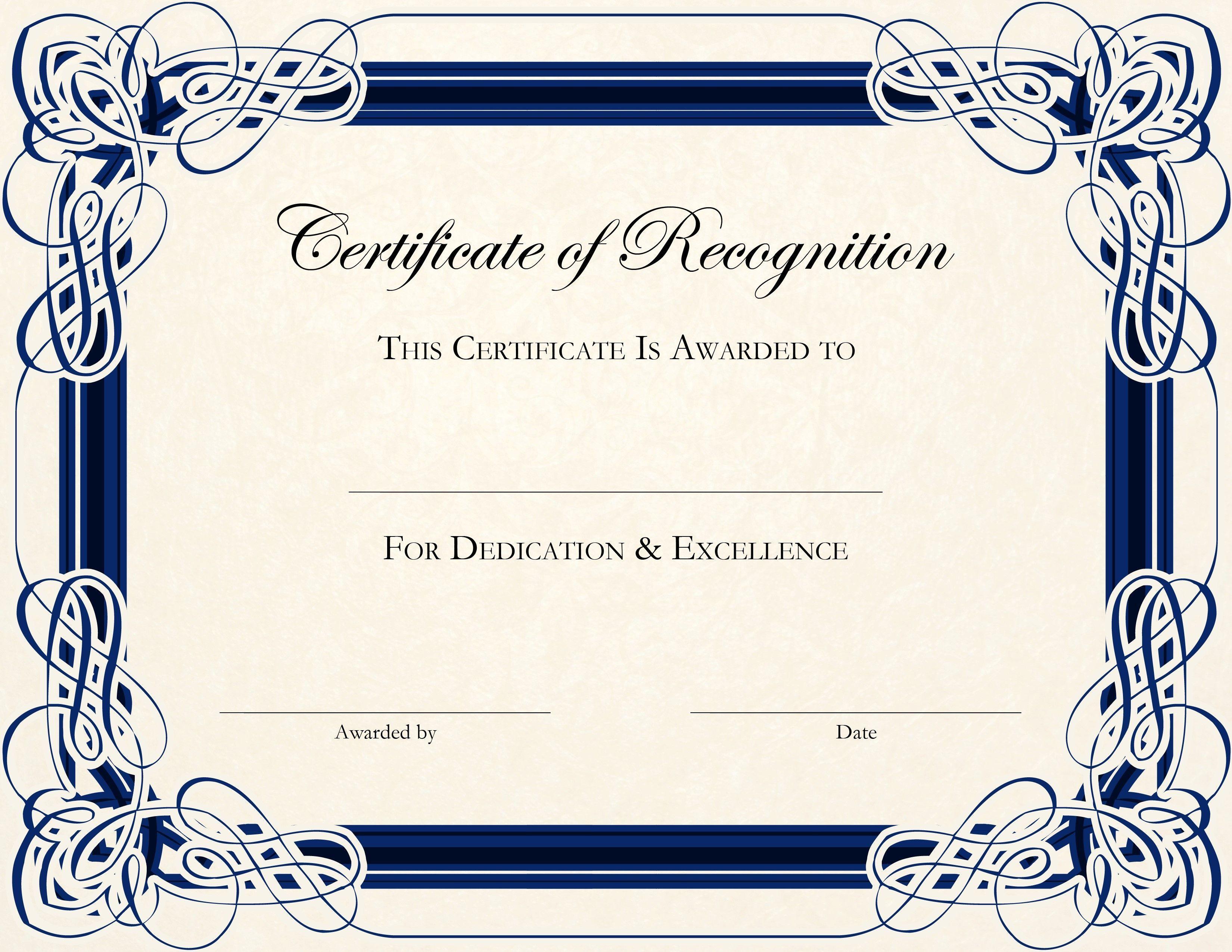 Image Result For Free Printable Award Certificate Template | Work - Free Printable Awards