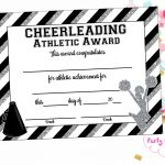 Instant Download Cheerleading Certificate Cheerleading | Etsy   Free Printable Cheerleading Certificates