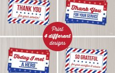 Instant Download Veterans Day Thank You Cards Military Thank | Etsy – Military Thank You Cards Free Printable