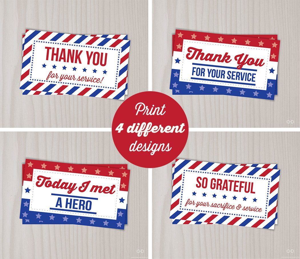 Instant Download Veterans Day Thank You Cards Military Thank | Etsy - Military Thank You Cards Free Printable