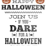 Invitation. Free Halloween Party Invitations   Techcommdood   Halloween Invitations Free Printable Black And White