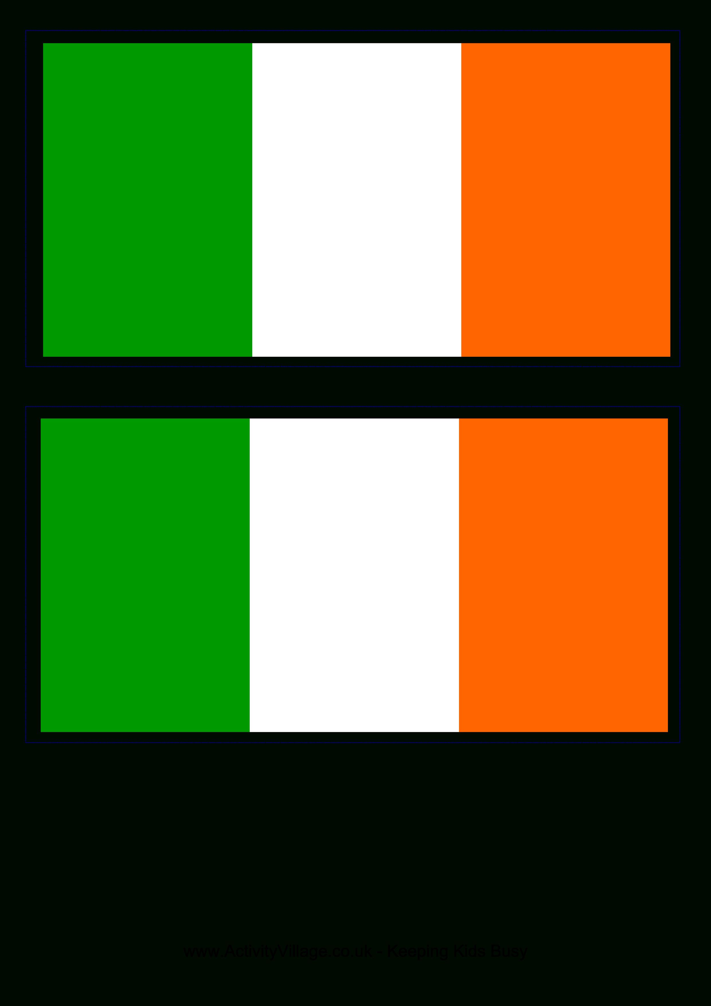 Irish Flag - Free Printable Irish Flag | When I'm Feelin Crafty - Free Printable Scottish Flag