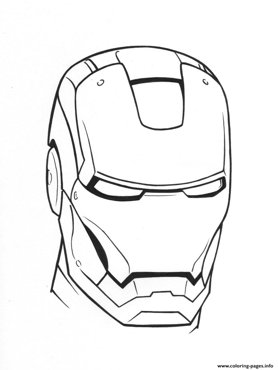 Iron Man Helmet See58 Coloring Pages Printable - Free Printable Ironman Mask