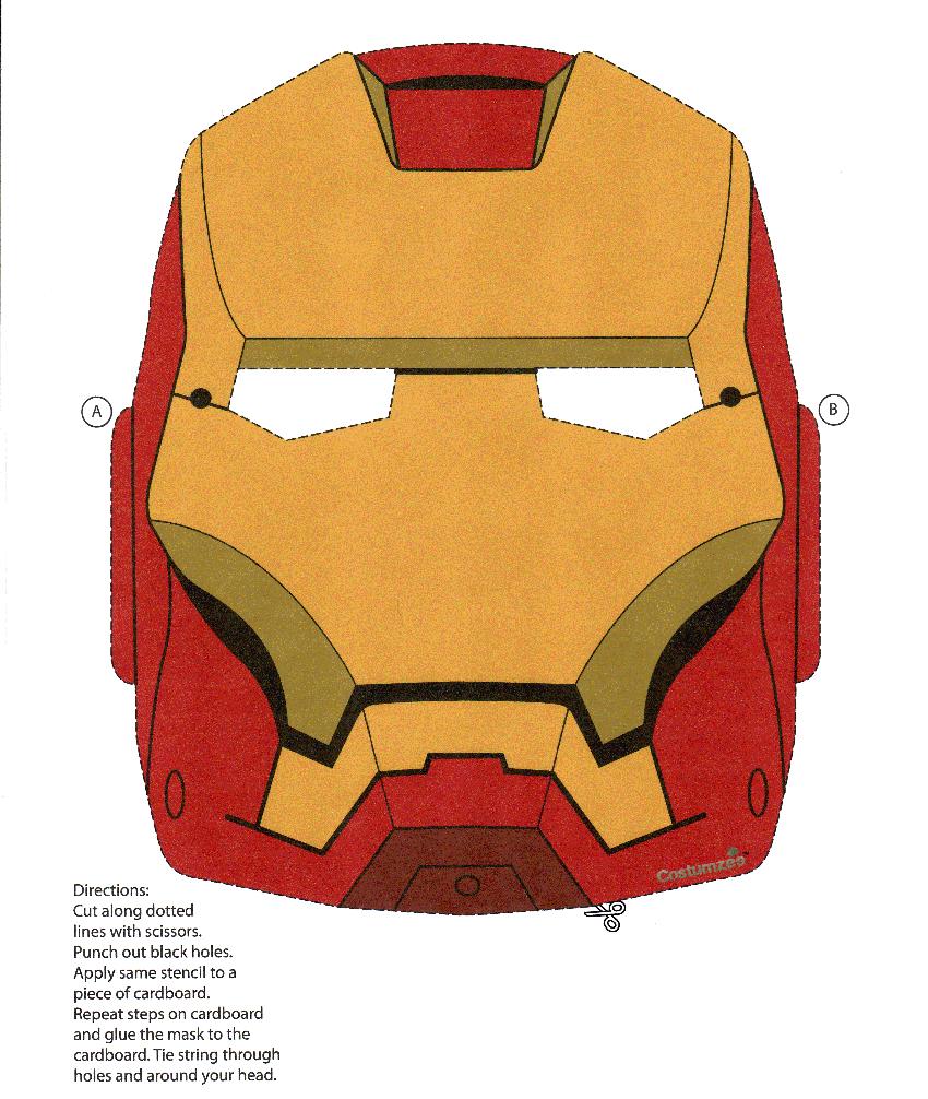 Iron Man [Resolved] — Make The Cut! Forum - Free Printable Ironman Mask