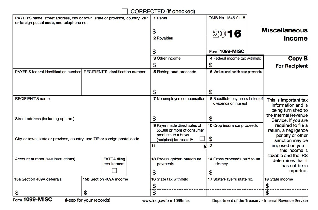 Irs 1099 Misc Form Free Download Create Fill And Print #670838166501 - Free Printable 1099 Form