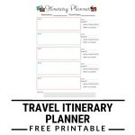 Itinerary Planner Free Printable | Kgb In Wanderland Blog   Free Printable Itinerary