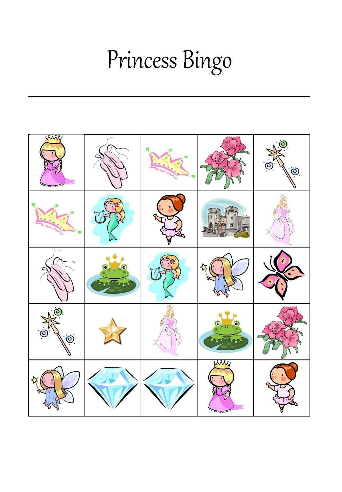 It's A Princess Thing: Free Printable Princess Bingo Game   Party - Free Printable Tea Party Games