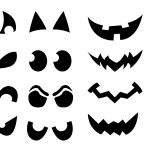 Jack O' Lantern Shirt Stencils | Craft Buds   Free Printable Pumpkin Faces