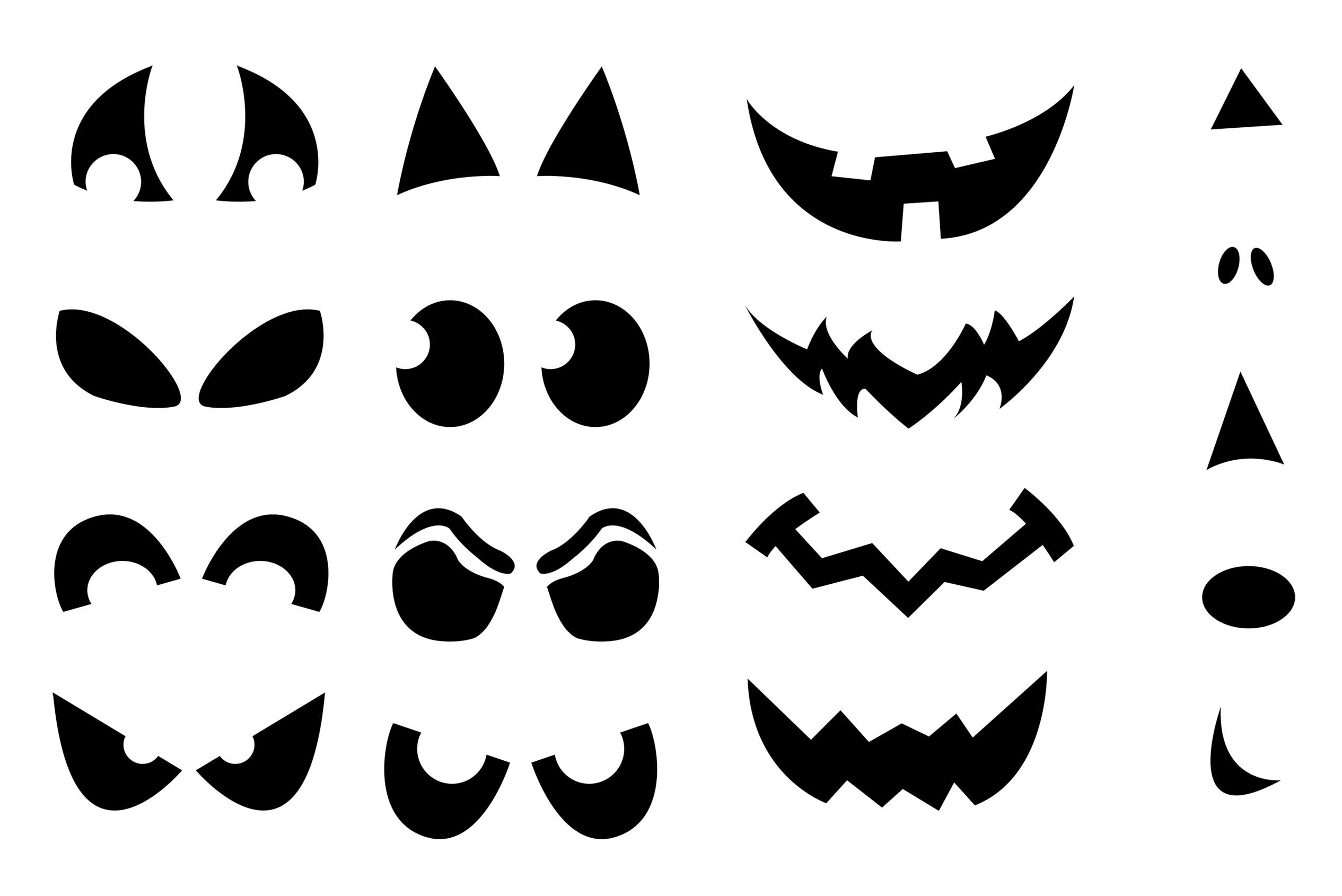 Jack-O'-Lantern Shirt Stencils | Craft Buds - Jack O Lantern Patterns Free Printable