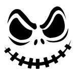 Jack Skellington Pumpkin | Cricut Cutter Ideas | Halloween, Pumpkin   Free Printable Pumpkin Carving Stencils