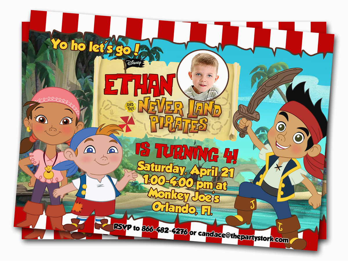 Jake And The Neverland Pirate Birthday Invitations | Birthdaybuzz - Free Printable Jake And The Neverland Pirates Cupcake Toppers