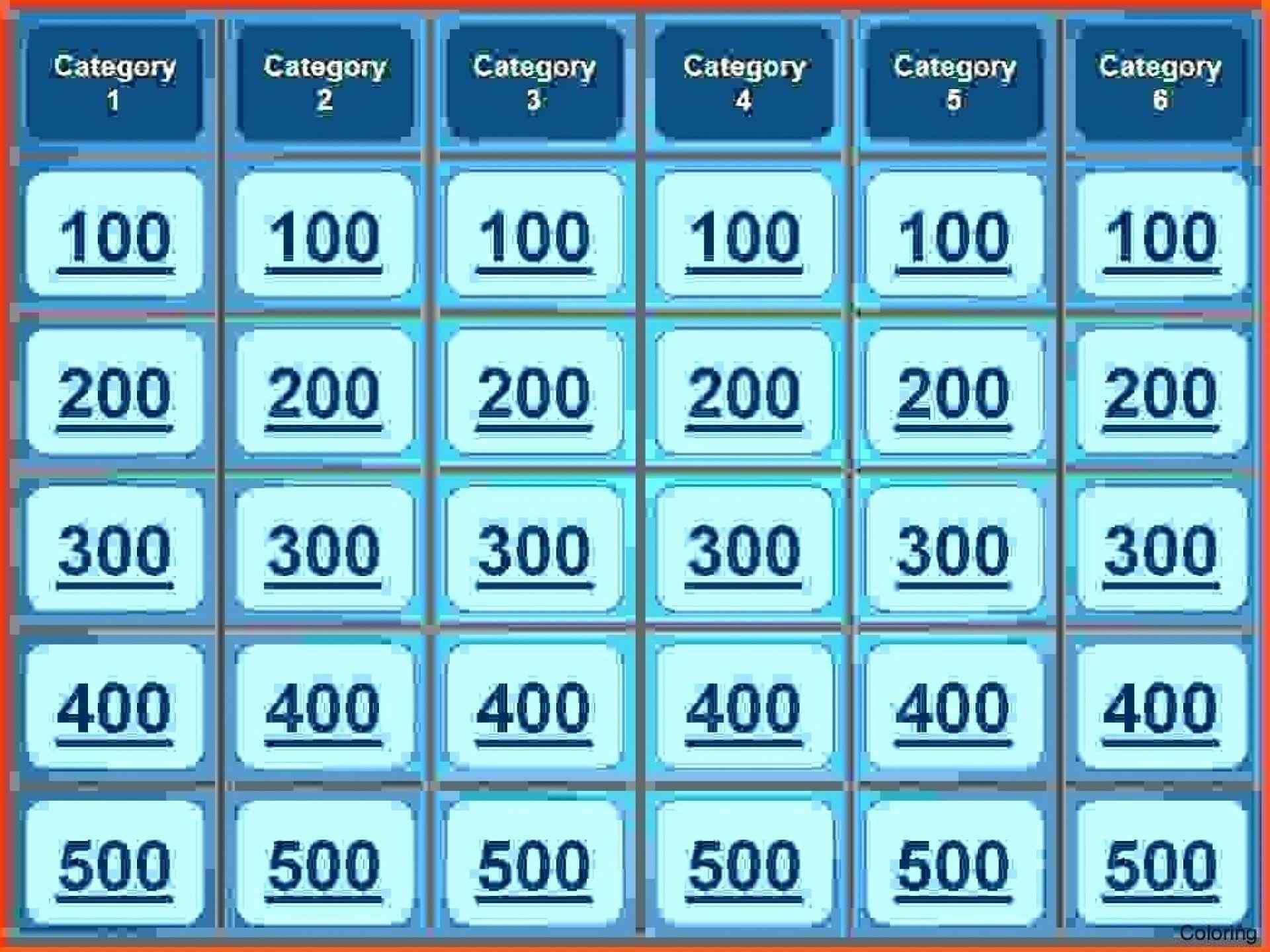 Jeopardy Board Template Fresh Free Jeopardy Template Powerpoint Free - Free Printable Jeopardy Template