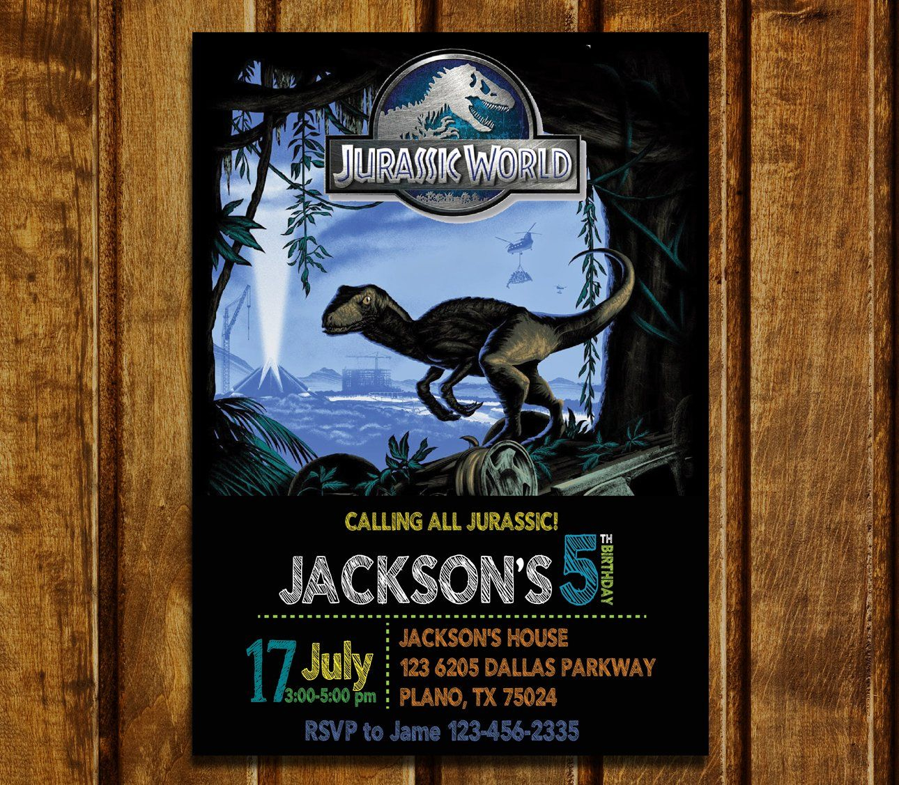 Jurassic World Birthday Invitations, Jurassic Park Invitations - Free Printable Jurassic Park Invitations