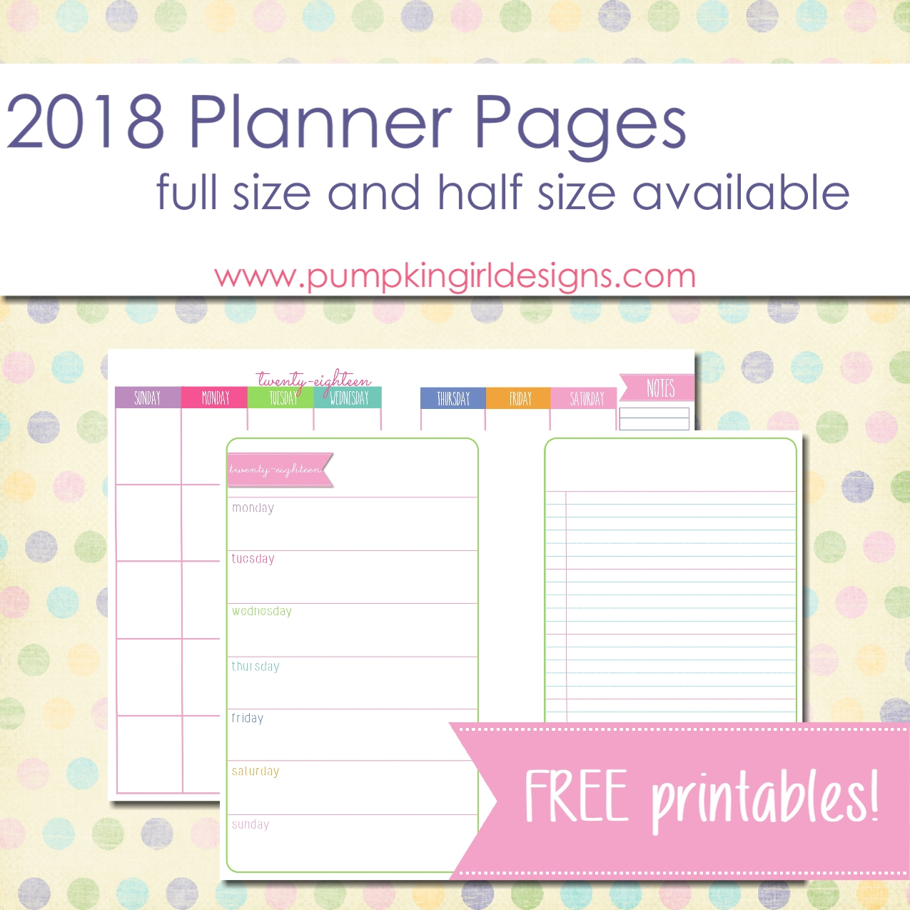 Justlorri@gmail | Pumpkingirl Designs - Free Printable 5.5 X8 5 Planner Pages