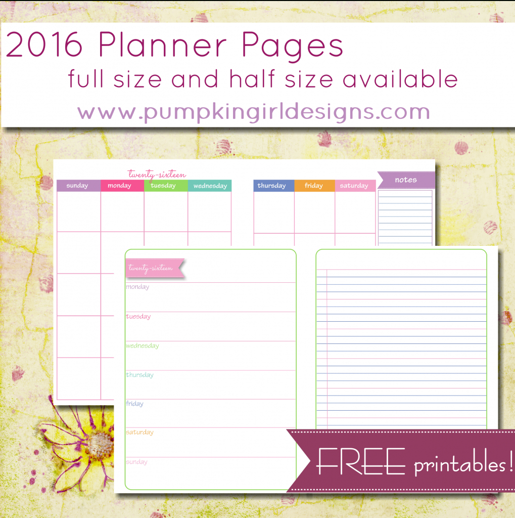 Justlorri@gmail | Pumpkingirl Designs Pertaining To Free Printable - Free Printable 5.5 X8 5 Planner Pages