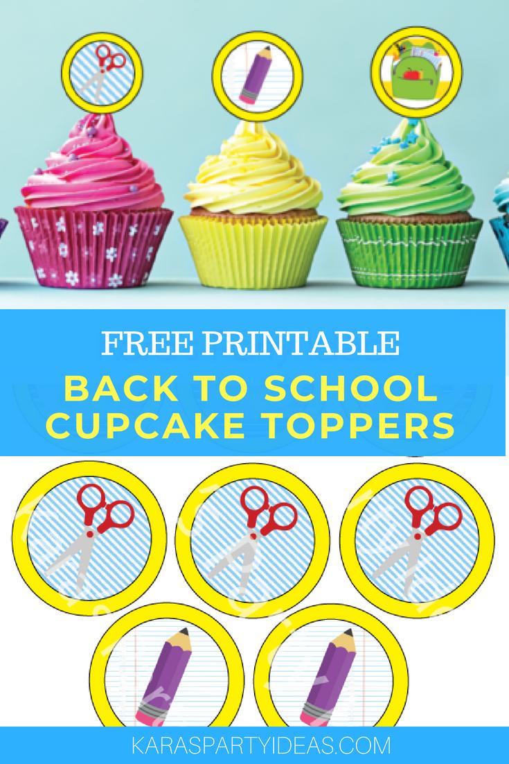 Kara's Party Ideas Free Printable Back To School Cupcake Toppers - Free Printable Train Cupcake Toppers