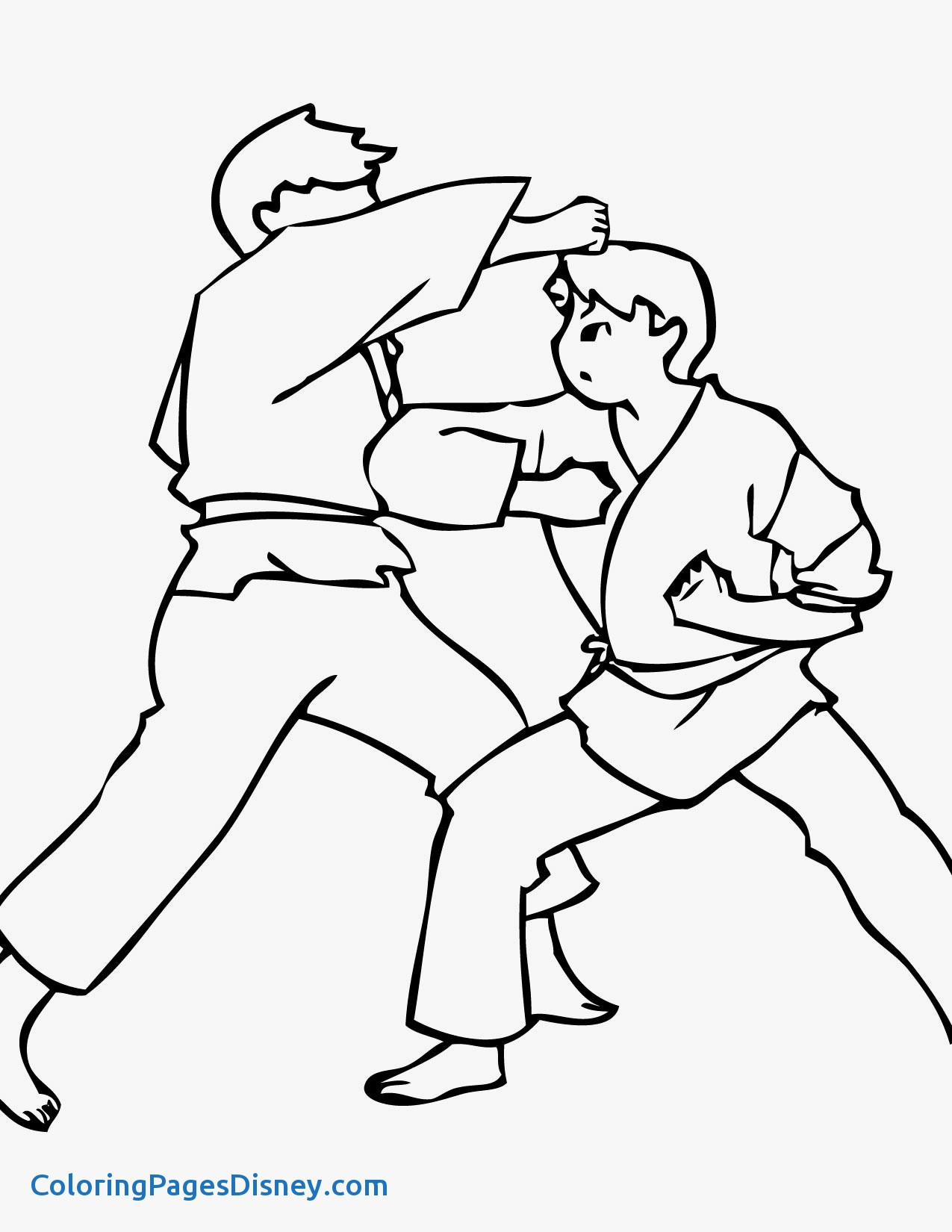 Karate Coloring Pages 8 #2124 - Free Printable Karate Coloring Pages