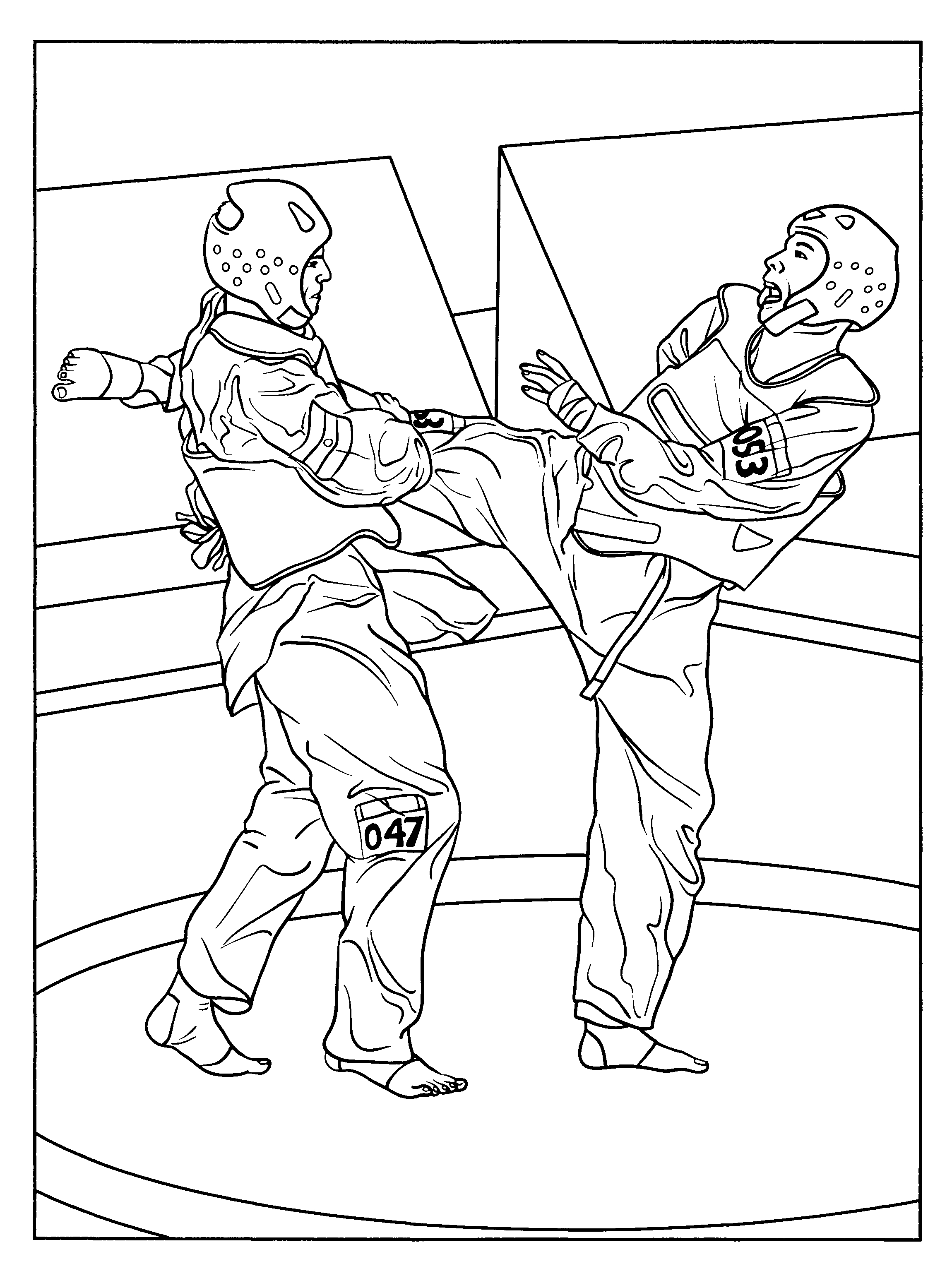 Karate Coloring Pages For Kids | Coloring Pages | Pinterest | Karate - Free Printable Karate Coloring Pages