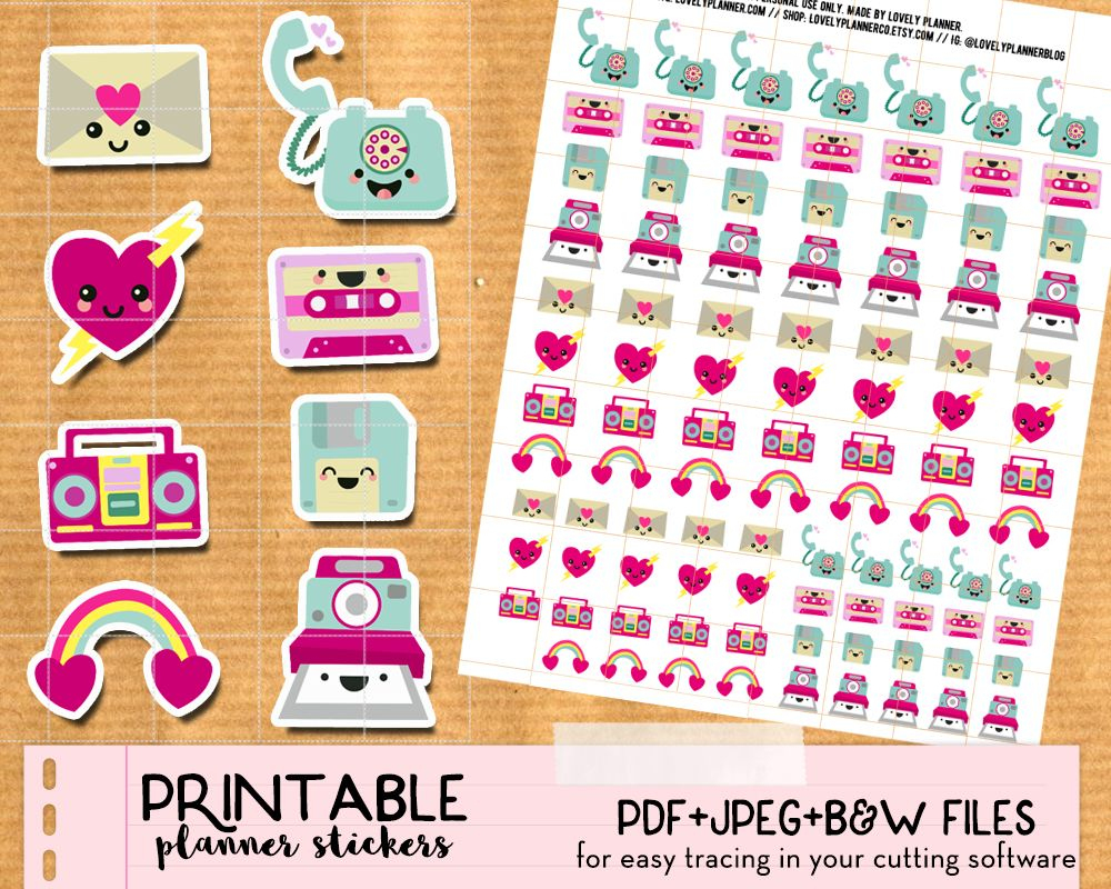 Kawaii Happy Mail Envelope Stickers - Free Printable | Happy Mail - Free Printable Kawaii Stickers