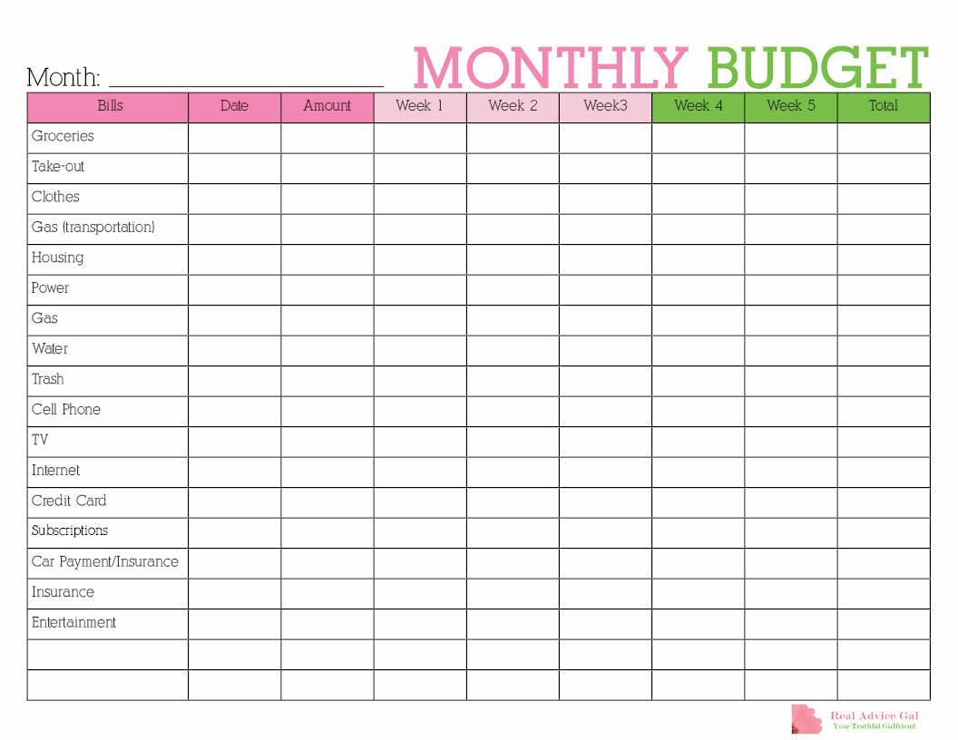 Keep Track Of Your Monthly Expenditures With This Free Printable - Free Printable Budget Planner