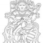 Kerala Mural Coloring Page | Free Printable Coloring Pages   Free Printable Murals