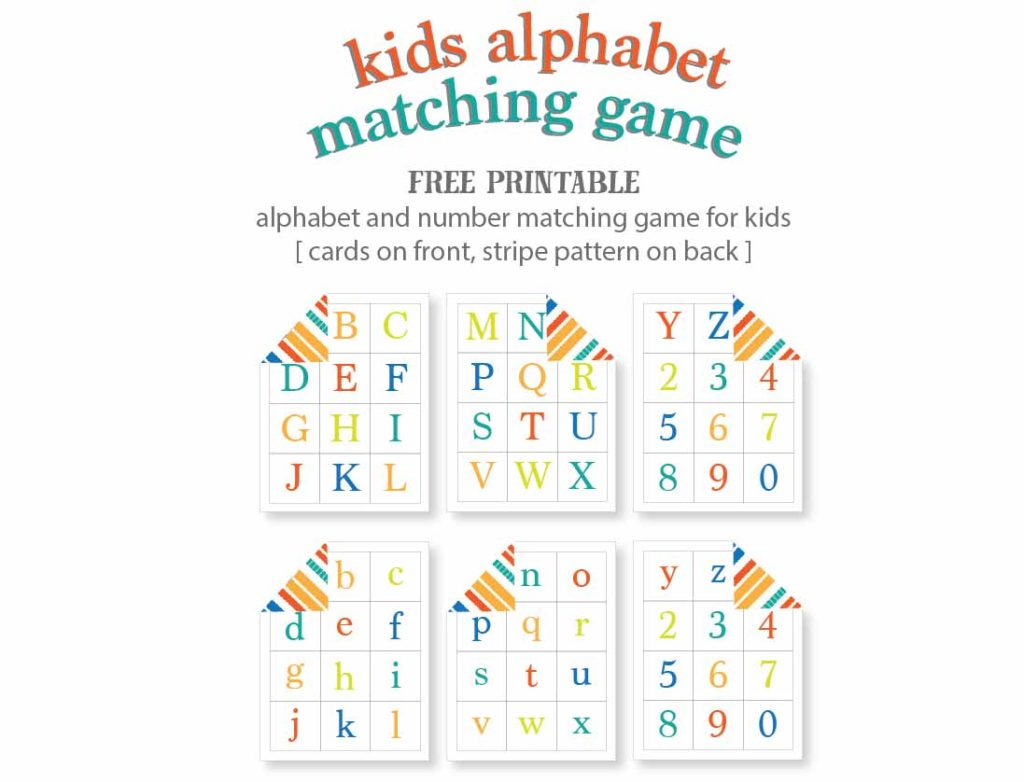 Kids Alphabet Matching Game - Free Printable | Live Craft Eat - Free Printable Matching Cards