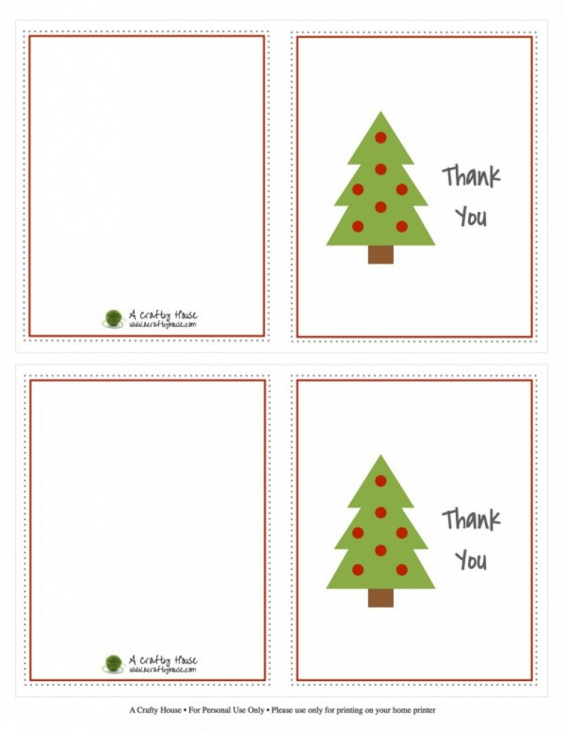 Kids Christmas Thank You Note Printables - Design Dazzle Pertaining - Free Christmas Thank You Notes Printable