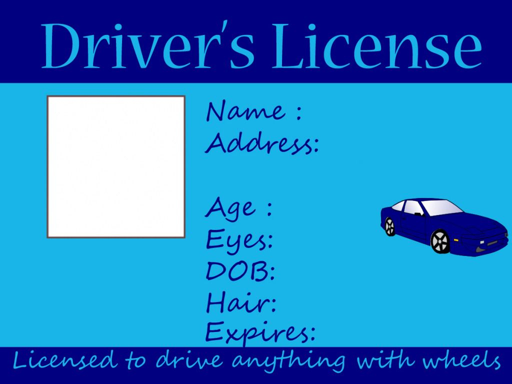 Kids Driving And Fishing License -Free Printable ~ Crafts Made - Free Printable Fake Drivers License