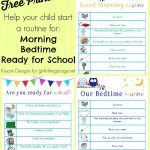 Kids' Morning, Bedtime, And Ready For School Free Printables   To Have And To Hold Your Hair Back Free Printable