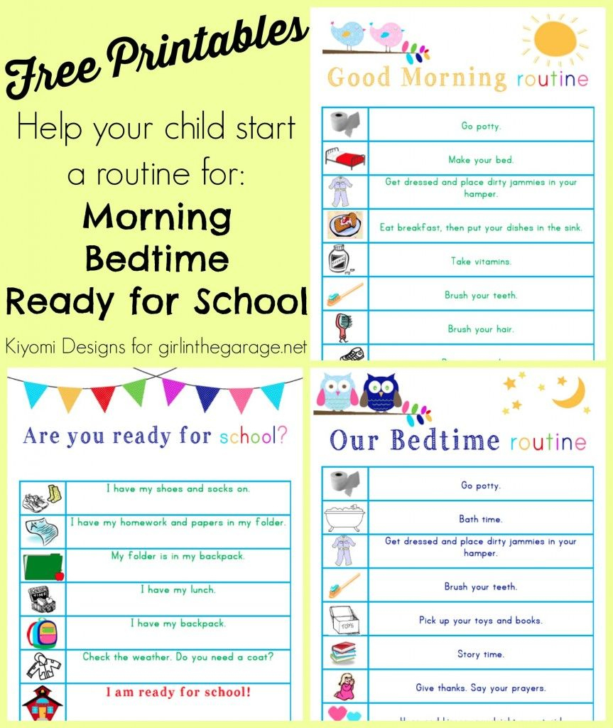 Kids' Morning, Bedtime, And Ready-For-School Free Printables - To Have And To Hold Your Hair Back Free Printable