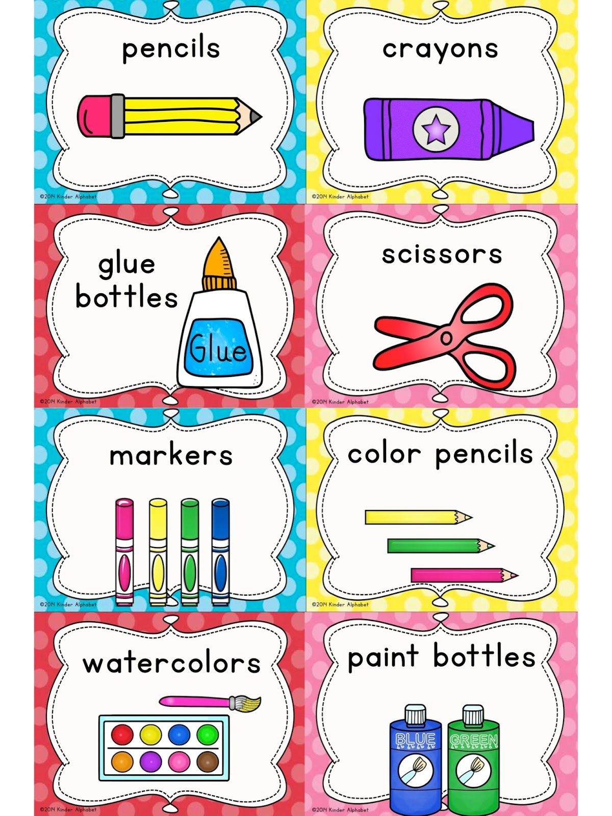 Kinder Alphabet: Cvcc Clip Art And Word Work Freebies | Classroom - Preschool Classroom Helper Labels Free Printable