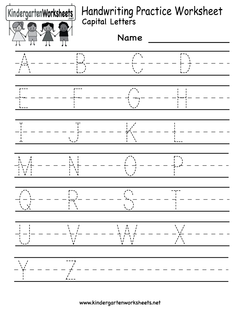Kindergarten Handwriting Practice Worksheet Printable | Fun For Kids - Free Printable Practice Name Writing Sheets