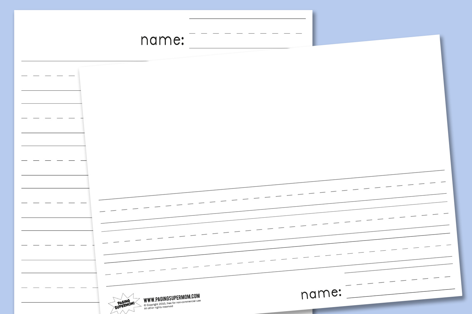 Kindergarten Lined Paper - Download Free Printable Paper Templates - Free Printable Kindergarten Lined Paper Template