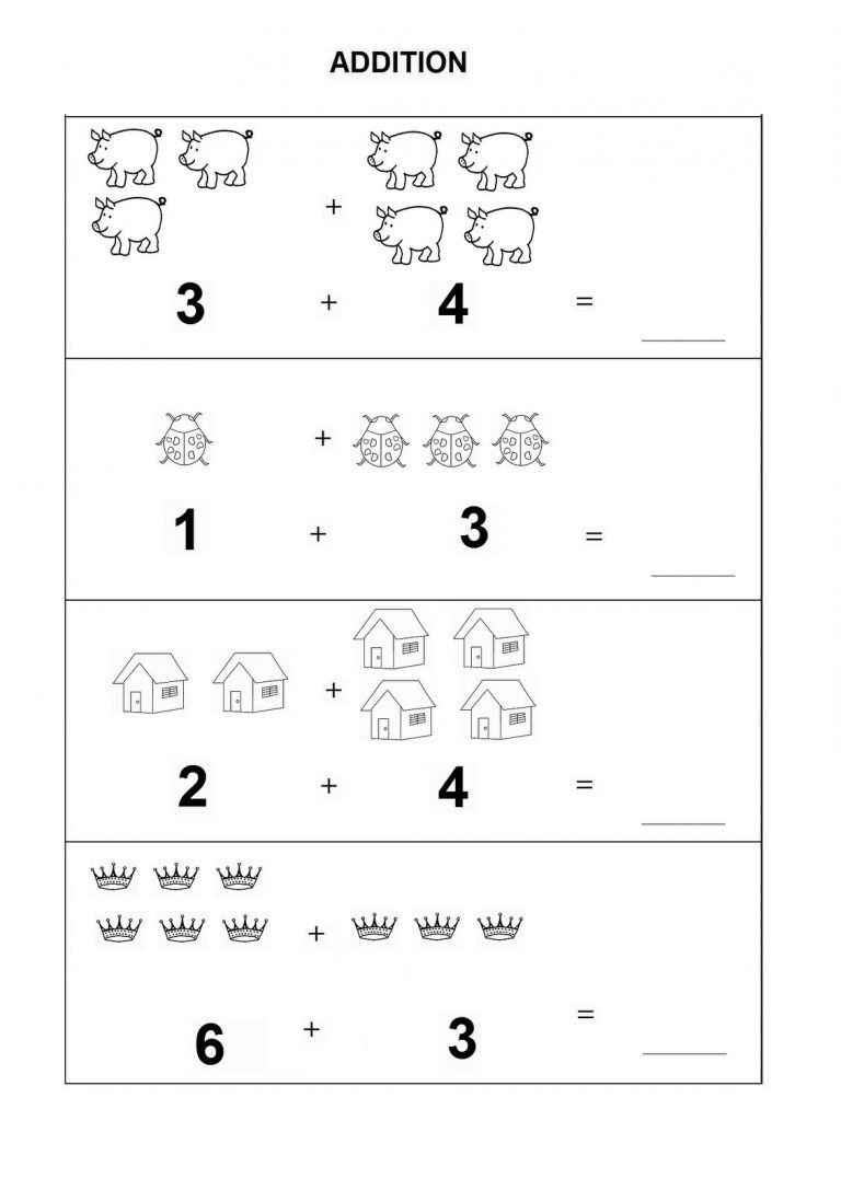 Kindergarten Math Worksheets Pdf Addition | Dining Etiquette - Free Printable Simple Math Worksheets