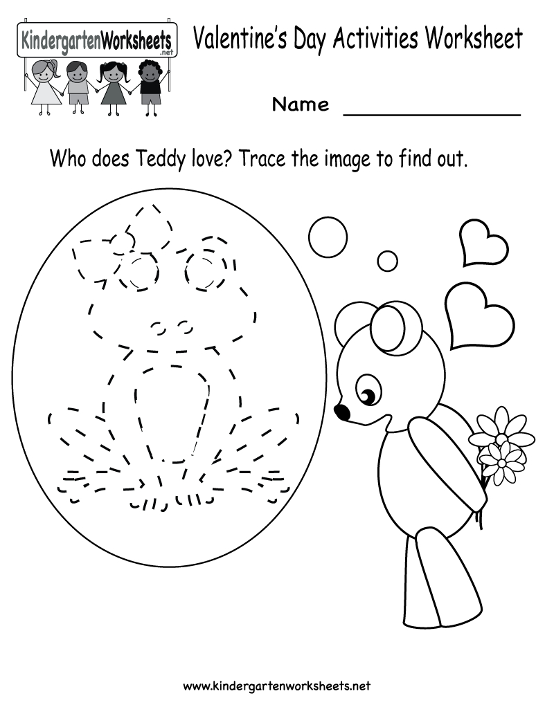 Kindergarten Valentine's Day Activities Worksheet Printable | Cute - Free Printable Preschool Valentine Worksheets