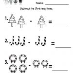 Kindergarten Worksheets Printable |  Subtraction Worksheet   Free   Christmas Fun Worksheets Printable Free