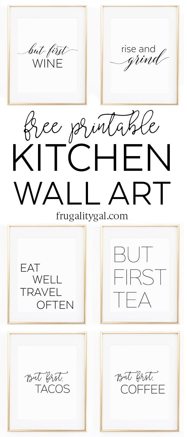 Kitchen Gallery Wall Printables   Free Printable Wall Art - Free Printable Art Pictures