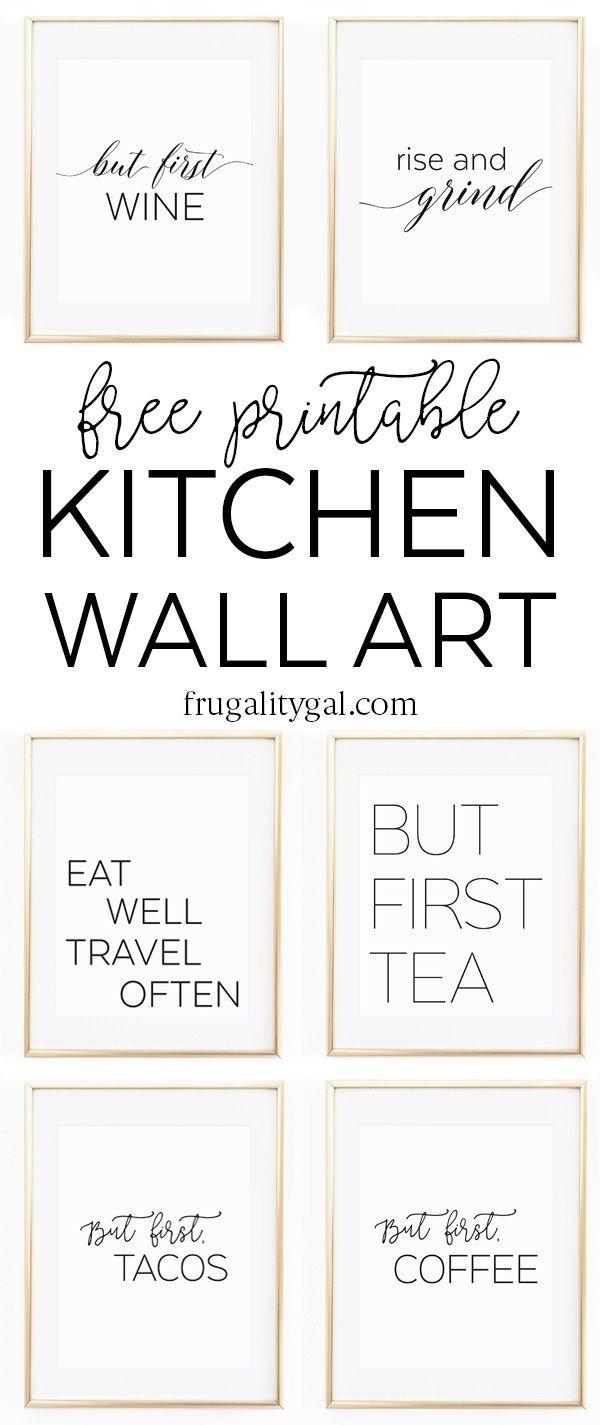Kitchen Gallery Wall Printables | Free Printable Wall Art - Free Printable Artwork