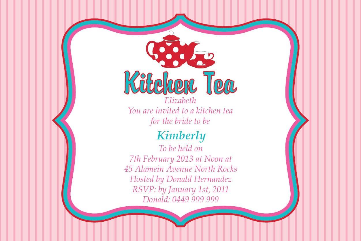 Kitchen Tea Party Invitation Ideas   Kitchen Sohor - Free Printable Kitchen Tea Invitation Templates