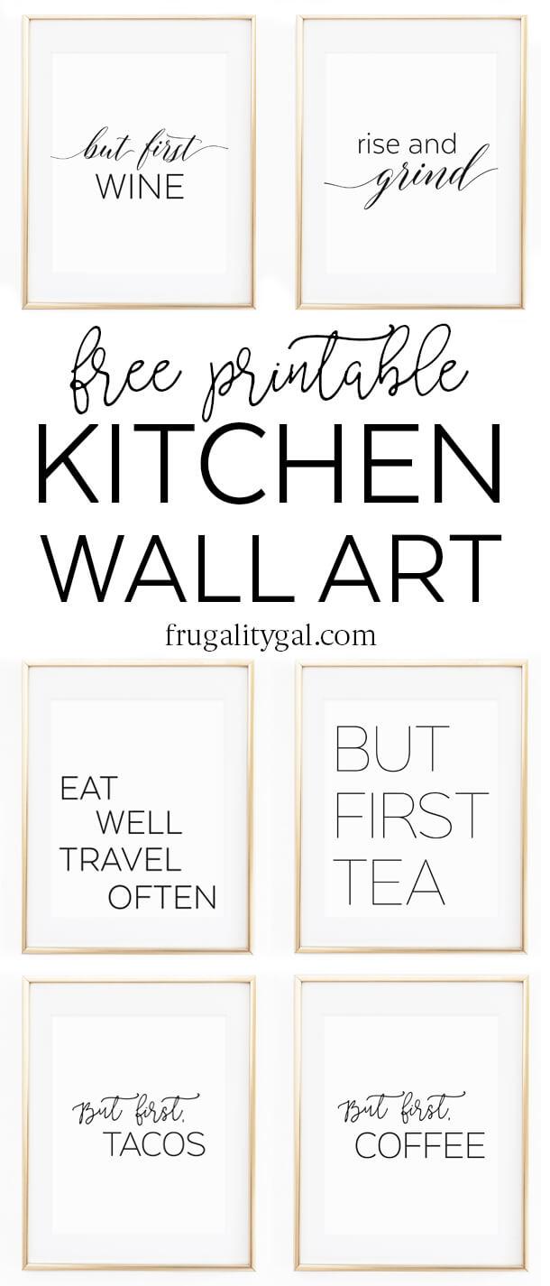 "Kitchen Wall Art - 8X10"" Set Of Six Prints - Free Printable - Free Printable Wall Art"