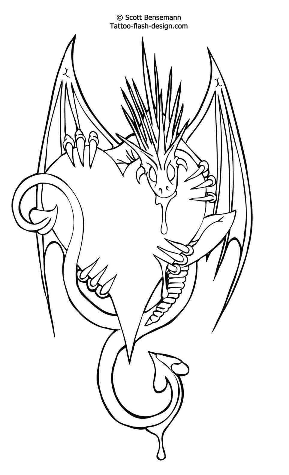 Knot-Design-Free-Flash-Love-Heart-Dragon-Printable-Castle-B-Free - Free Tattoo Stencils Printable