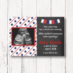 Labor Day Themed Pregnancy Announcement Card Whole New | Etsy   Free Printable Pregnancy Announcement Cards