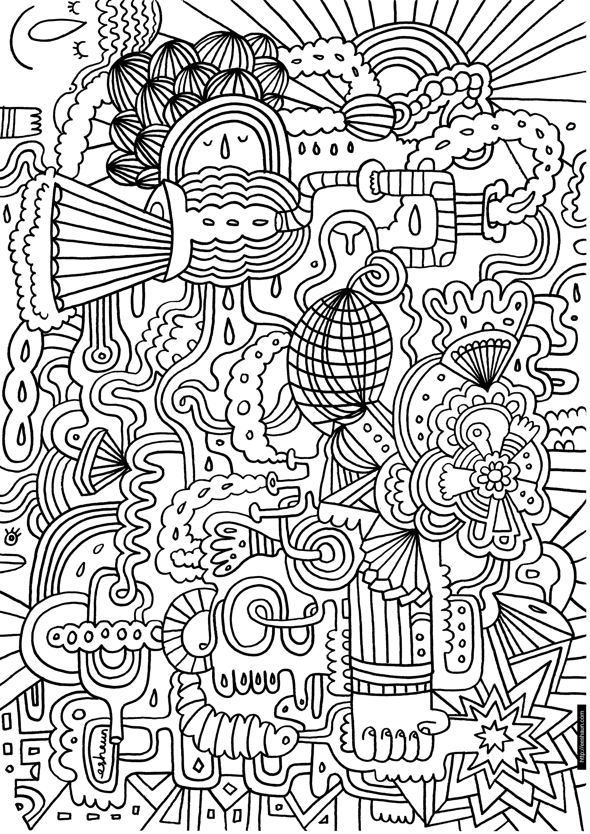 Large Coloring Pages – With Color Book Pictures Also Printables Kids - Free Printable Murals