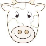 Large Printable Cow Decoration   Coolest Free Printables | Cow   Free Printable Paper Masks